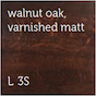 Walnut Oak - Varnished Matt L-3S