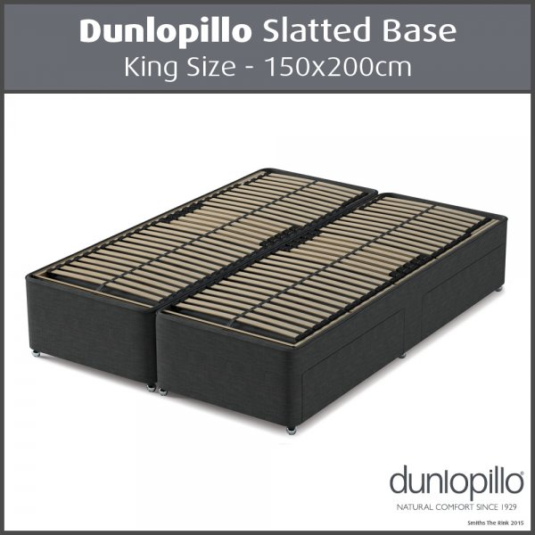 Dunlopillo Slatted Divan Base King Size 150x200cm