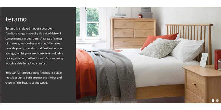 ercol teramo bedroom furniture at smiths the rink harrogate. Black Bedroom Furniture Sets. Home Design Ideas