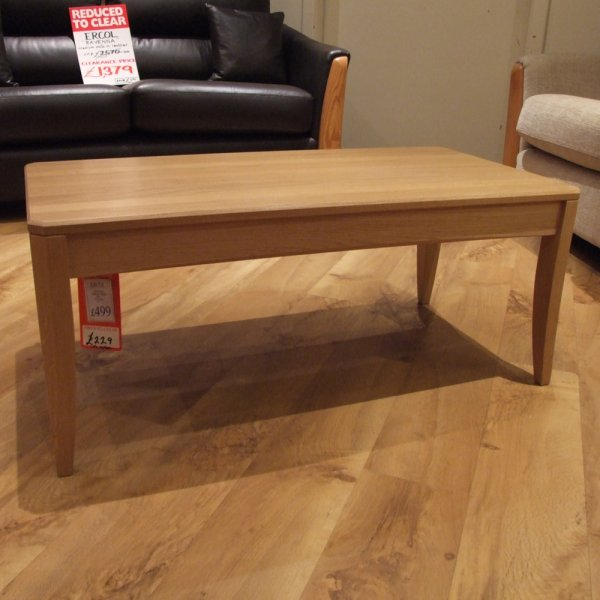 Ercol Artisan Coffee Table At Smiths The Rink Harrogate