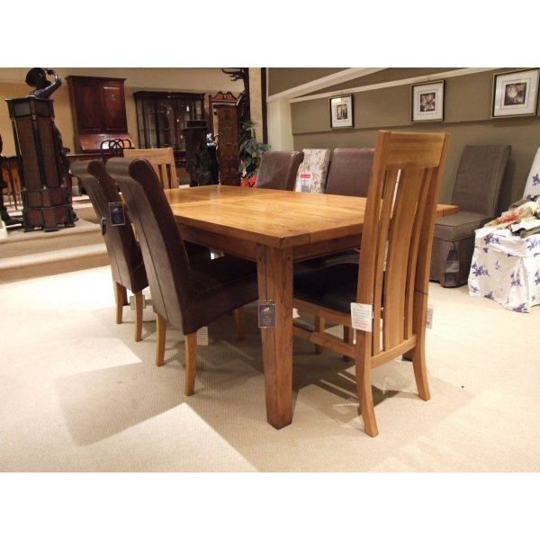 Dining Set Clearance: Halo Wentworth Large Extending Dining Table With 6 Chairs
