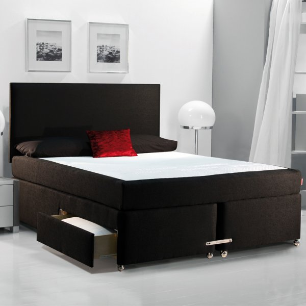 Dunlopillo luminous super king size divan set for Super king divan set