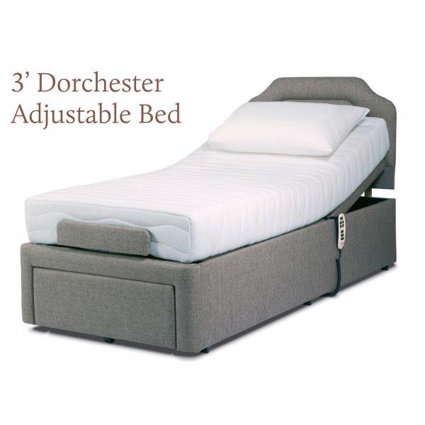 Adjustable Single Bed Base : Sherborne dorchester single electric dual motor adjustable
