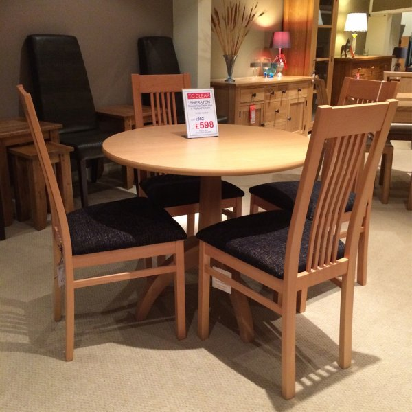 Sheraton Dining Table & 4 Chairs