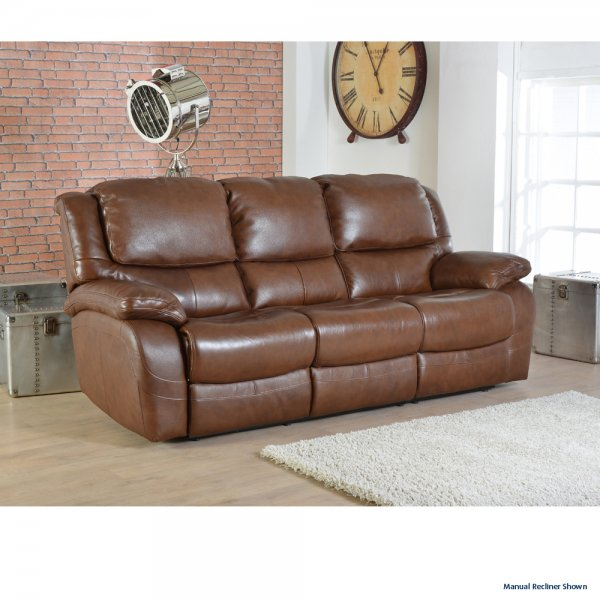 Ava 3 Seater Electric Recliner Sofa In Leather