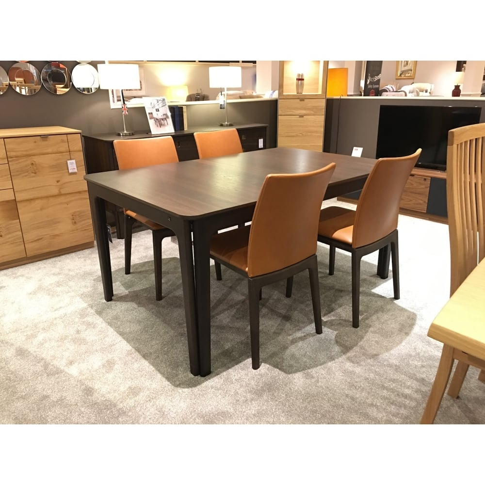 Dining Chairs Clearance: Skovby SM26 Smoked Oak Extending Table & 4 Chairs