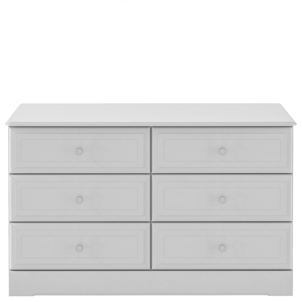 Kingstown Nicole 6 Drawer Chest In Grey D3056