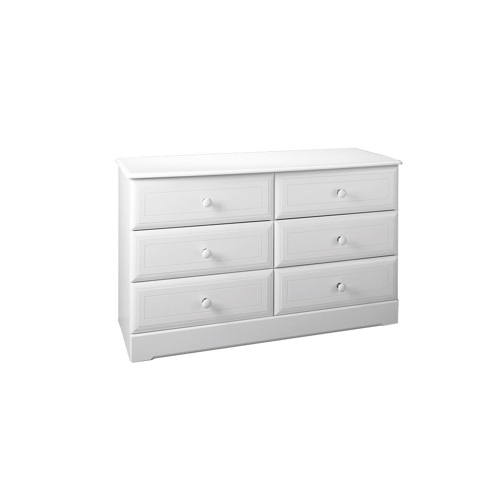 Kingstown Nicole 6 Drawer Chest In White D3056