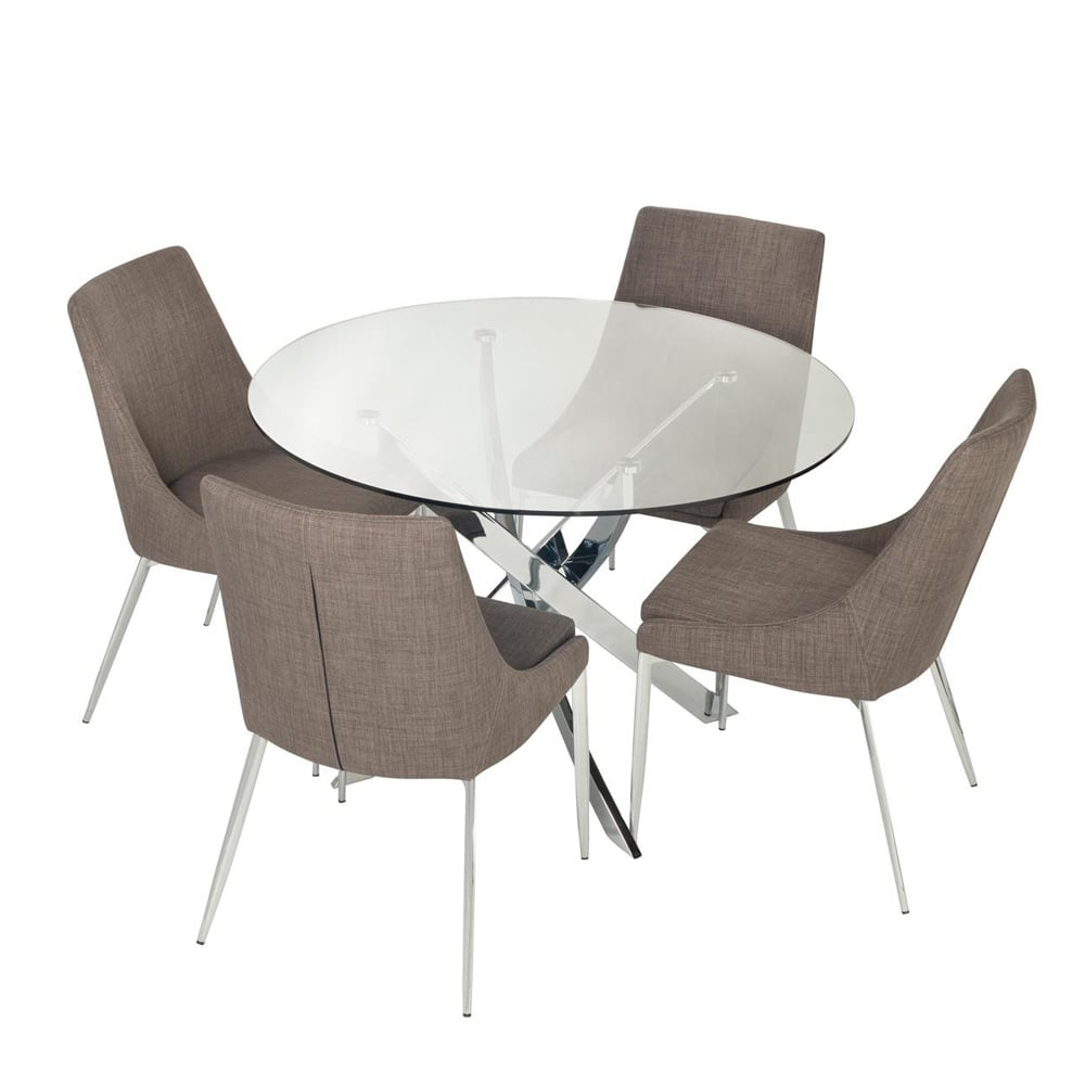 Islington 110cm Small Circular Dining Table 4 Saturn Chairs