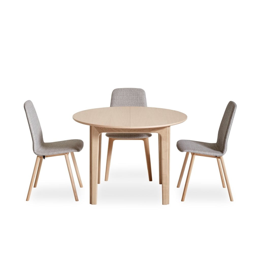Sm111 extending round dining table