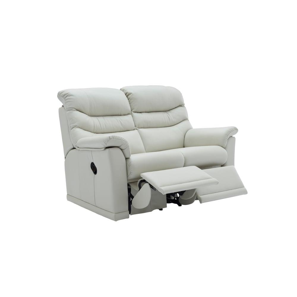 G Plan Malvern 2 Seater Leather Manual Recliner Sofa - Smiths The Rink