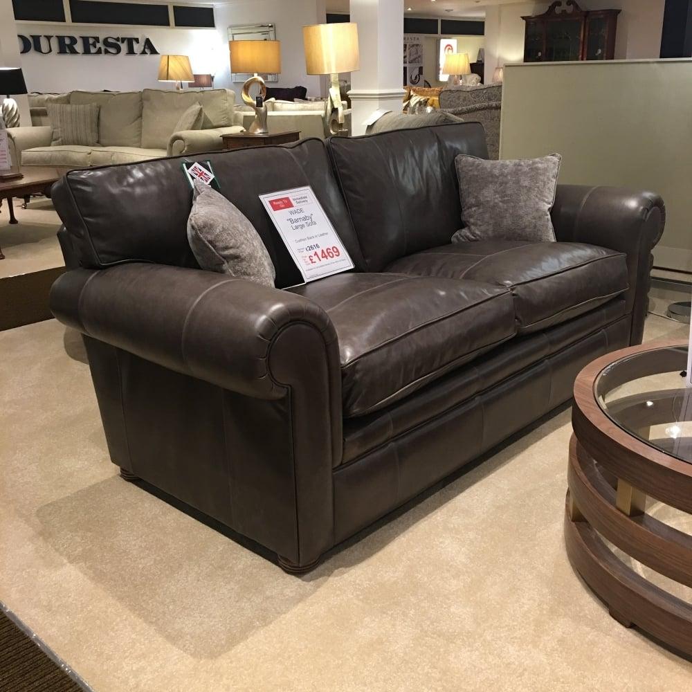 Wade Barnaby Large Leather Sofa