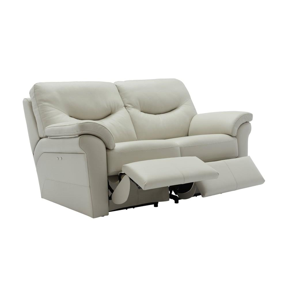 Washington 2 Seater Electric Recliner Sofa in Leather - Wall Hugger