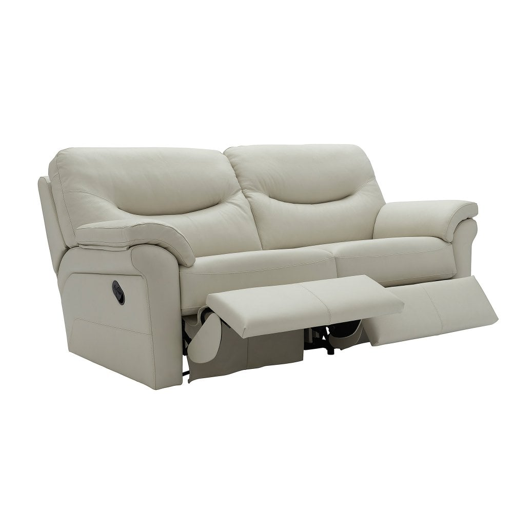 Washington 3 seater electric recliner sofa in leather wall hugger