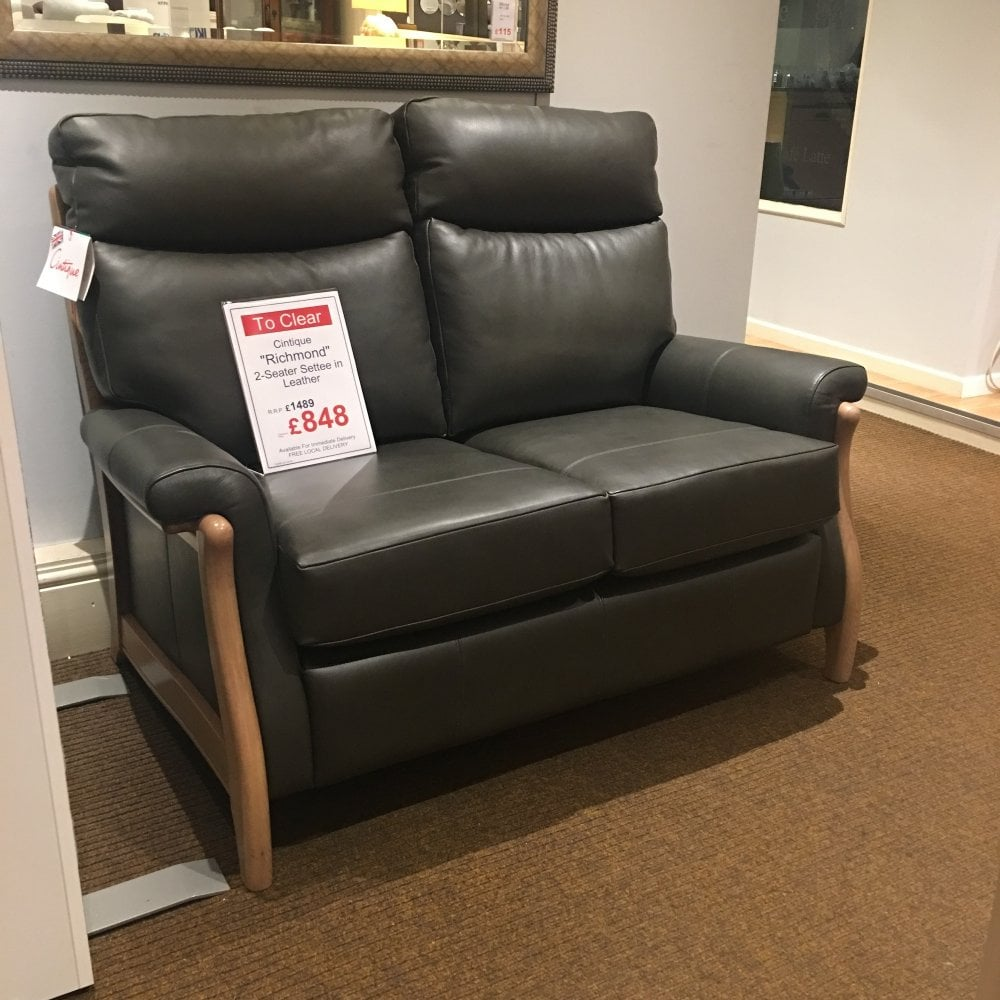 Cintique Richmond 2 Seater Leather Sofa - Clearance Ex Display - Local  Delivery Only