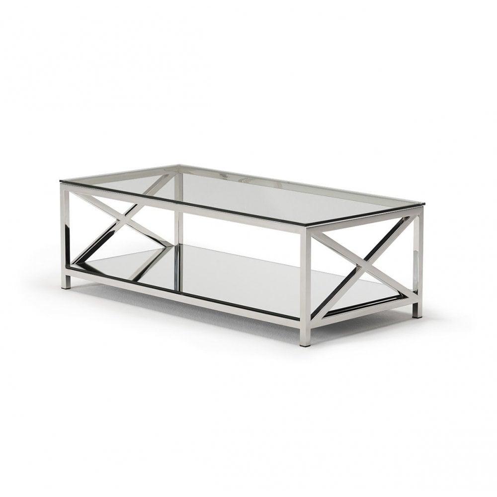 Glass Coffee Table With Shelf 9