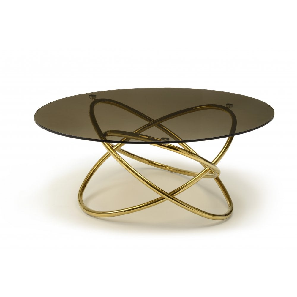 Kesterport Solaris Glass Oval Coffee Table Smoked Bronze Glass