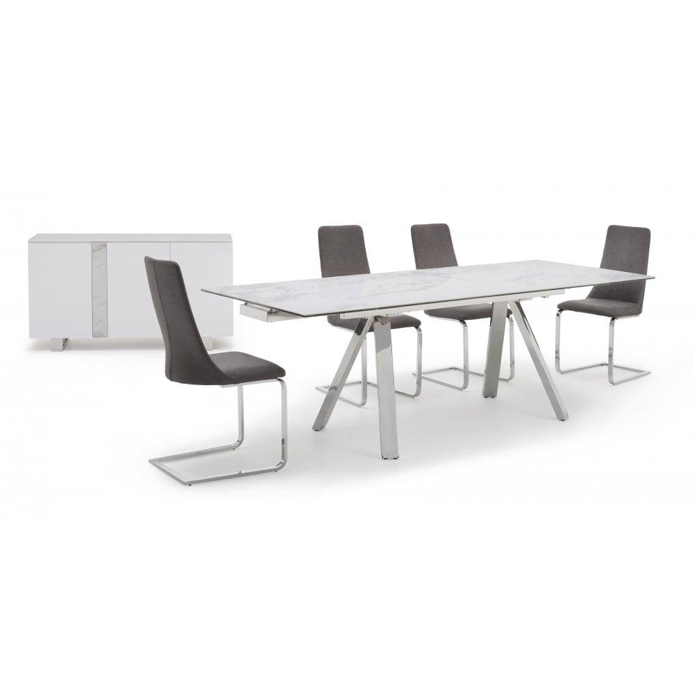 Kesterport Stromboli Ceramic Top Extending Table Seats 8 People