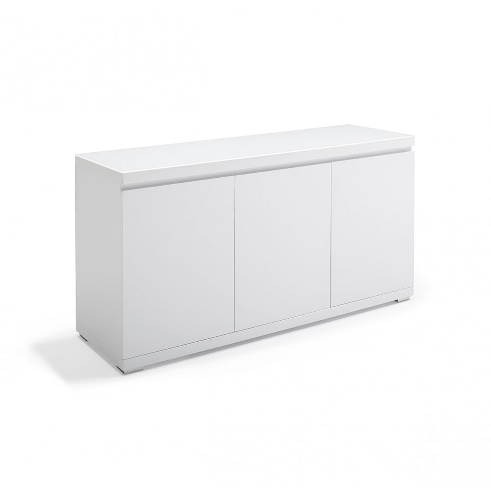 new products b6972 2e673 Giovanni White 3 Door Sideboard - Glass Top