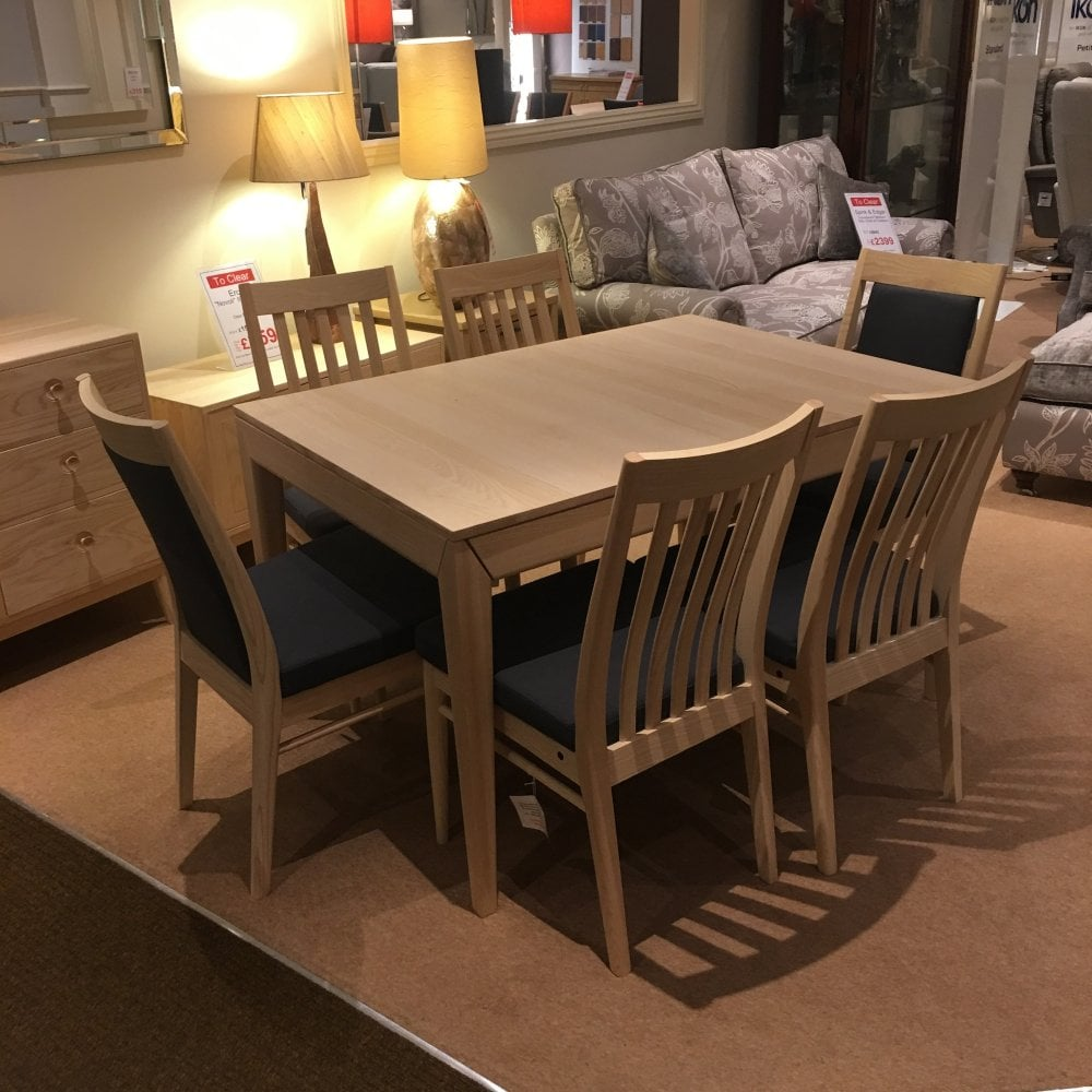 Dining Chairs Clearance: Ercol Novoli Dining Table With 6 Chairs Clearance