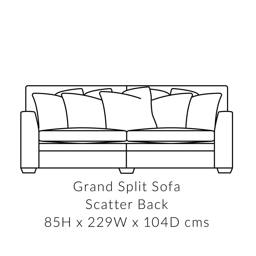 Greenwich Grand 3 Seater Sofa   Split   Scatter Back