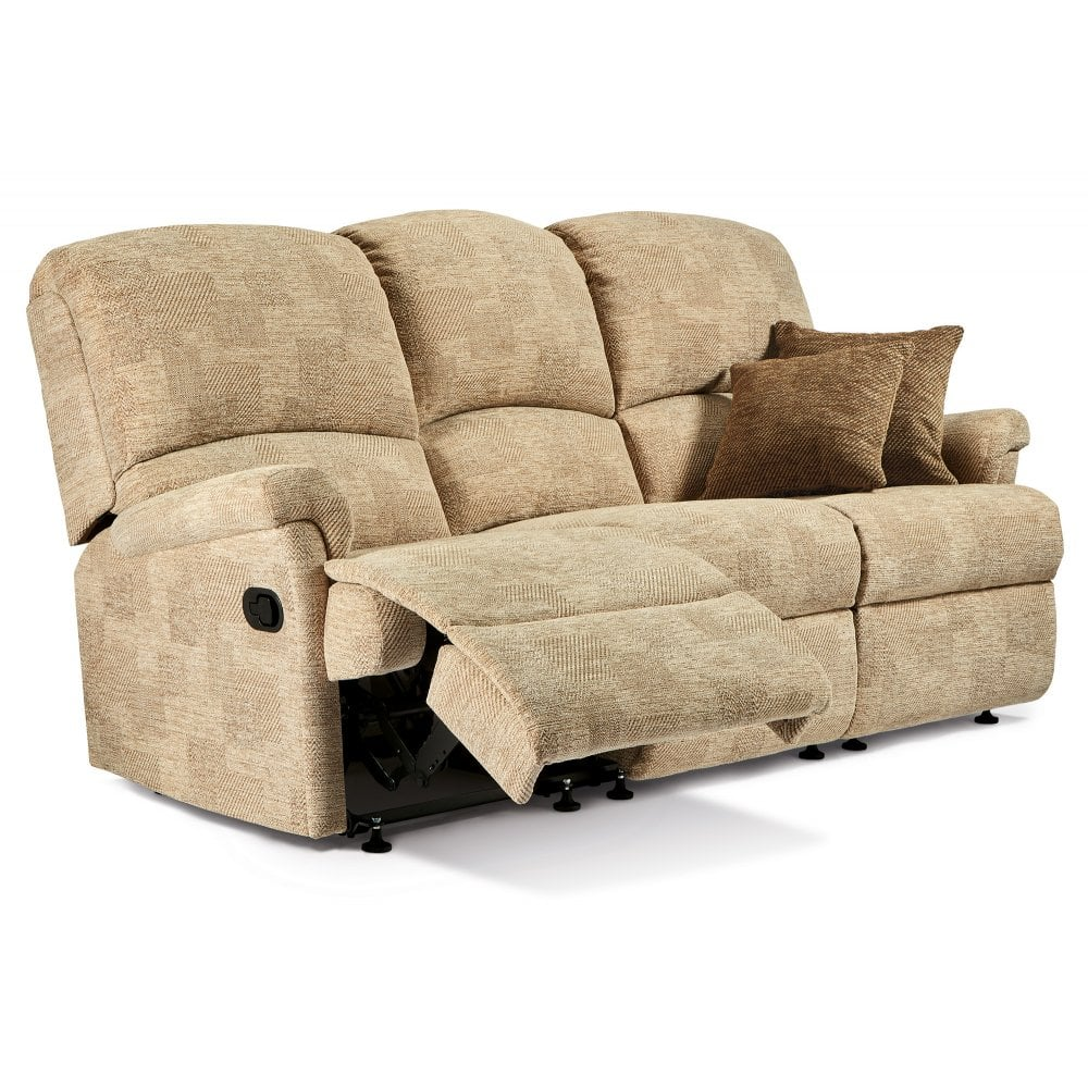 Nevada 3 Seater Manual Recliner Sofa