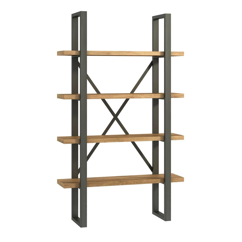 Bali 4 Tier Shelving Unit Industrial Style