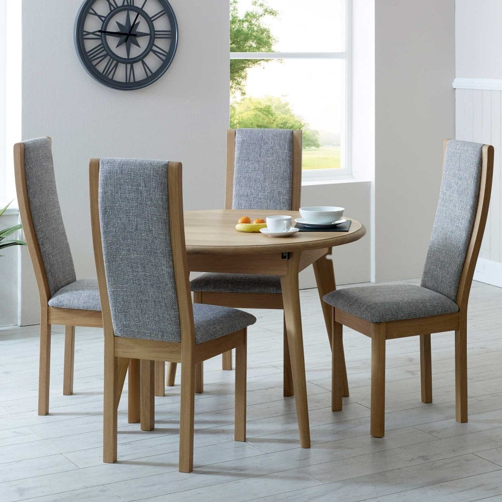 Winsor Stockholm Small Round Extending Oak Table Smiths Harrogate