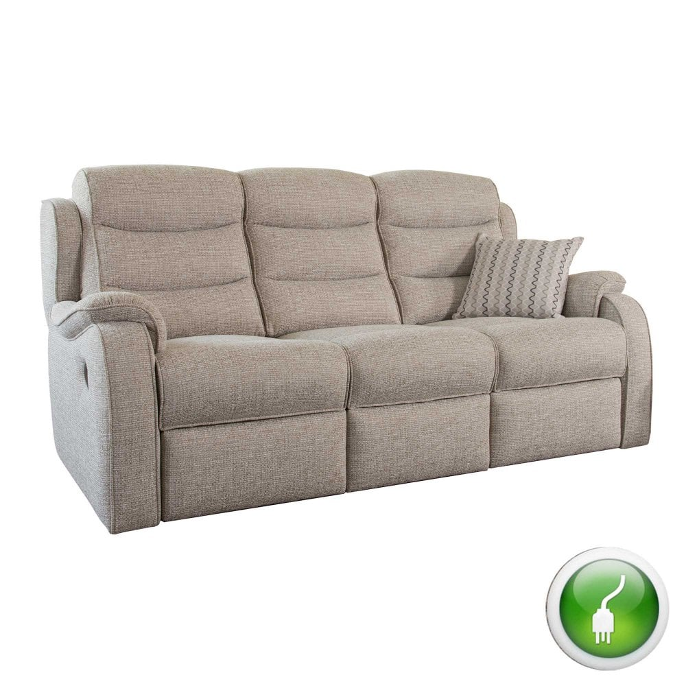 Parker Knoll Michigan 3 Seater Electric Recliner Sofa - At ...