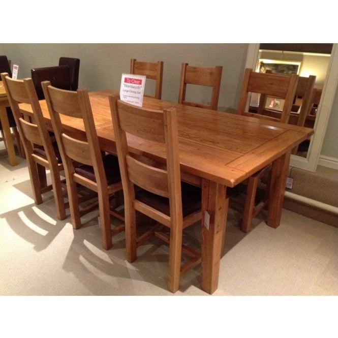 Dining Chairs Clearance: Halo Wentworth Large Extending Dining Table With 6 Chairs