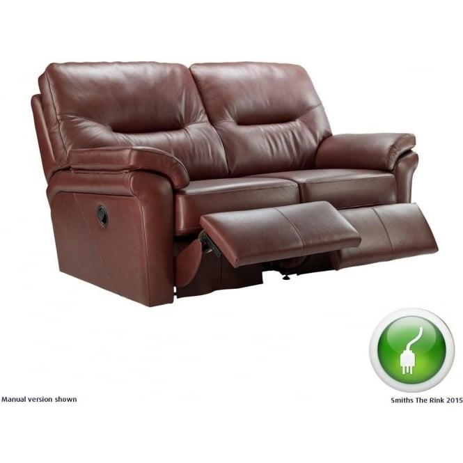 G Plan Washington 2 Seater Electric Recliner Leather Sofa