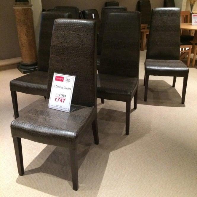 Peachy 6 Crocodile Skin Style Dining Chairs Clearance Creativecarmelina Interior Chair Design Creativecarmelinacom