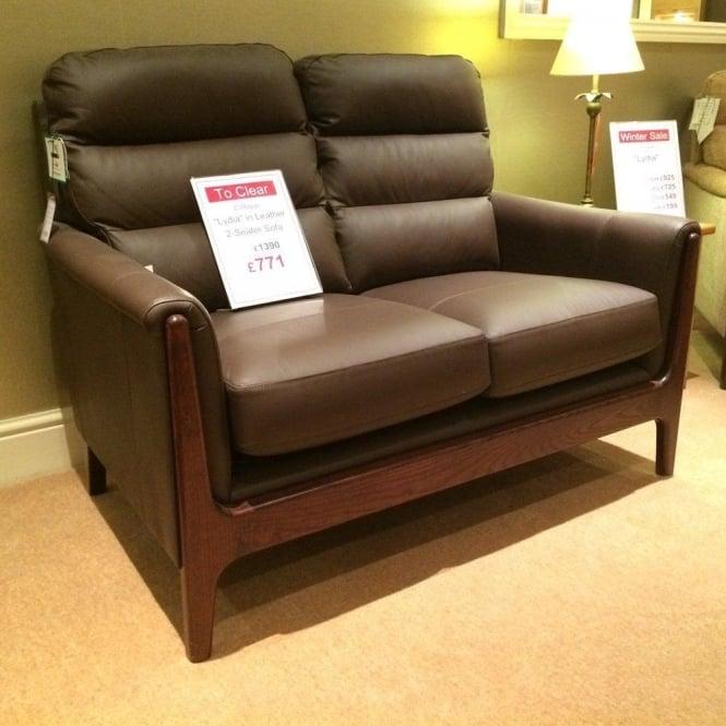 Cintique Lydia Leather 2 Seater Sofa