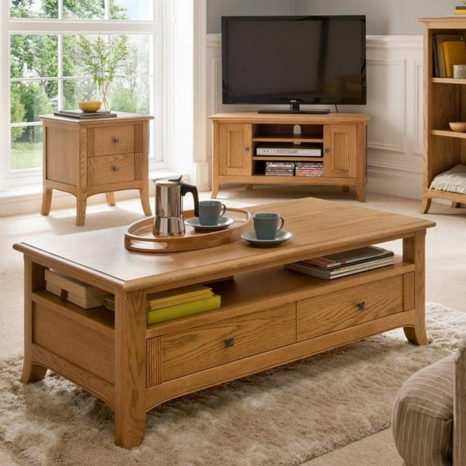 Winsor toledo large coffee table at smiths the rink harrogate for Large coffee table with drawers