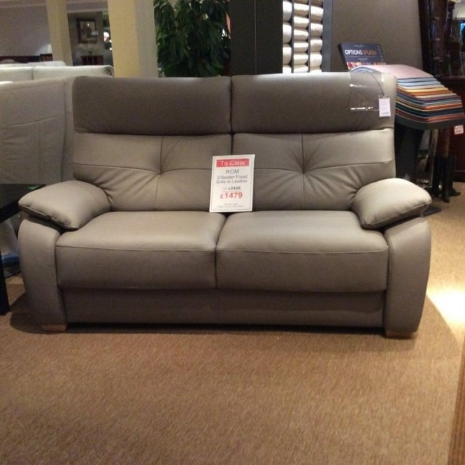 Sensational Rom Florac 2 Seater Leather Sofa Clearance Free Local Delivery Beutiful Home Inspiration Xortanetmahrainfo