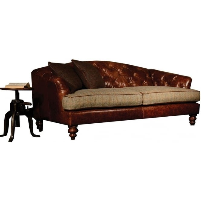 Tetrad Dalmore Midi Harris Tweed Sofa In Leather At Smiths The Rink
