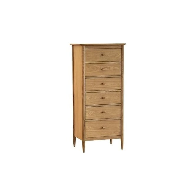 ercol teramo 6 drawer tall chest at smiths the rink. Black Bedroom Furniture Sets. Home Design Ideas