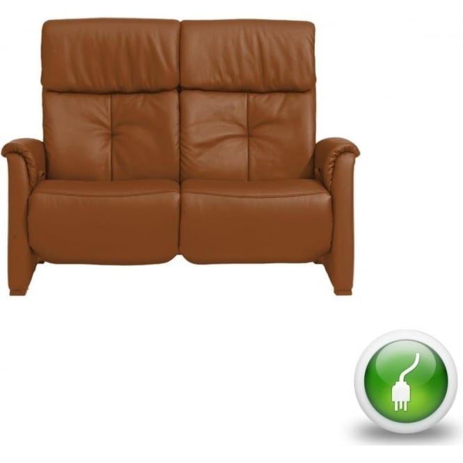 Humber Mini 2 Seater Electric All Reclining Leather Sofa