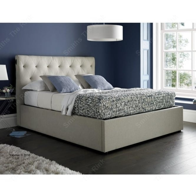 Stupendous Versace Electric Ottoman Bed In Linen Fabric Gmtry Best Dining Table And Chair Ideas Images Gmtryco