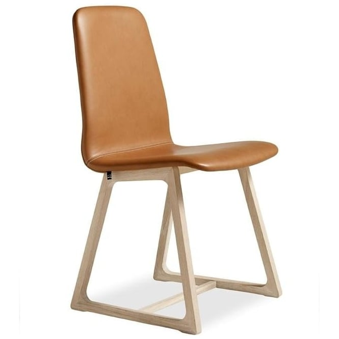 SM40 Wooden Dining Chair In Leather