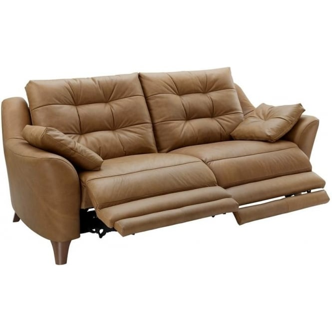 G Plan Pip 3 Seater Leather Power Recliner Sofa