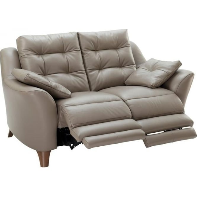 G Plan Pip 2 Seater Leather Power Recliner Sofa