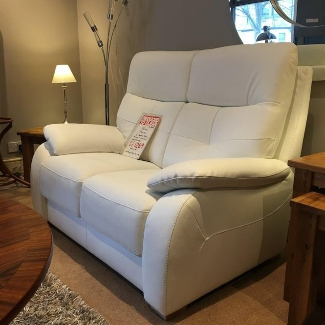 Astounding Rom Florac 2 Seater White Leather Sofa Clearance Free Local Delivery Ibusinesslaw Wood Chair Design Ideas Ibusinesslaworg