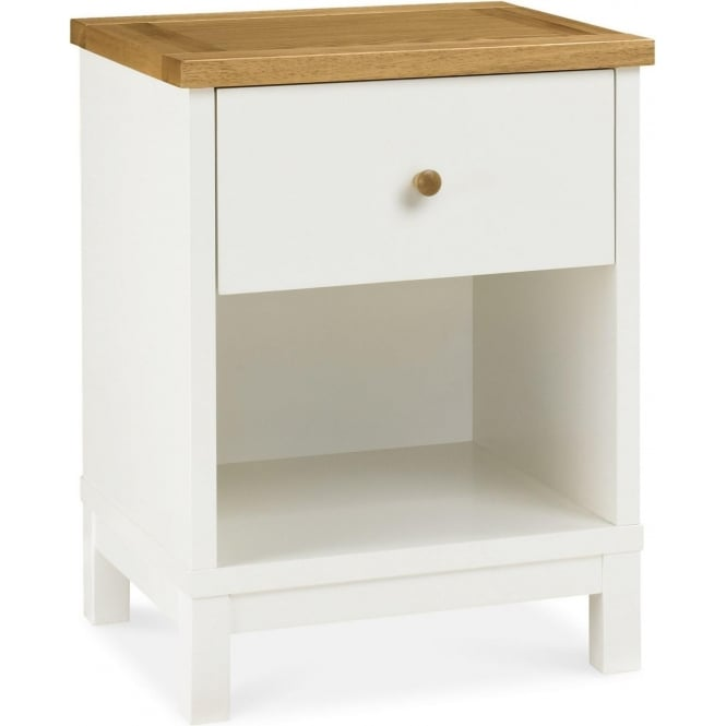 Minerva Atlantic 1 Drawer Two Tone Bedside Chest At Smiths