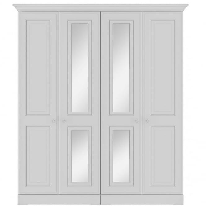 Kingstown Nicole Tall 4 Door Centre Mirror Wardrobe In