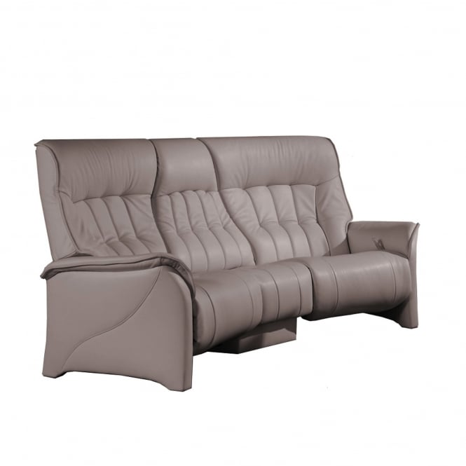 rhine 3 seater curved manual reclining sofa with intergal table 13R7HBA6