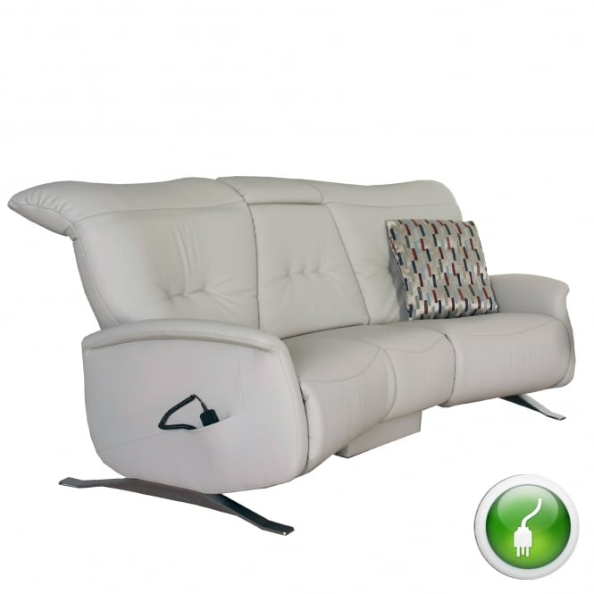 Himolla Cygnet 3 Seater Curved Electric Recliner Sofa With ...