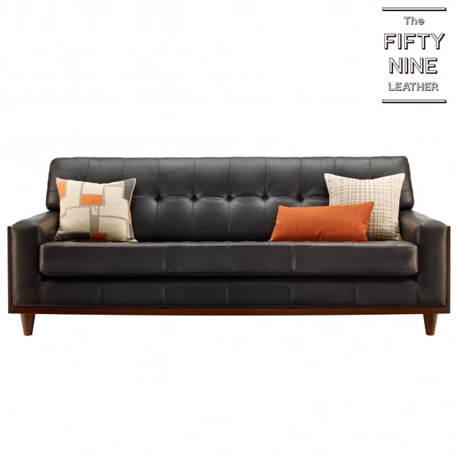 G Plan Vintage The Fifty Nine Large Sofa in Leather