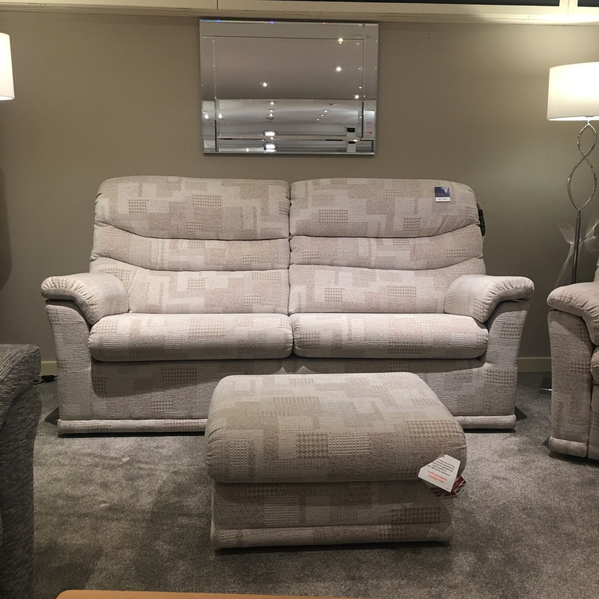 G Plan Malvern 3 Seater + Recliner & Stool Clearance Local